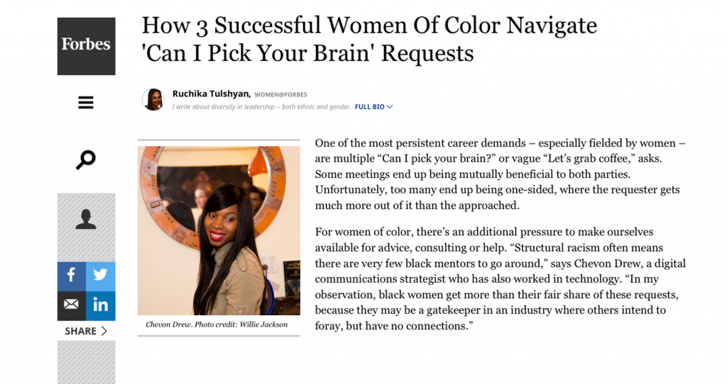 Chevon-drew-PICK-YOUR-BRAIN-FORBES