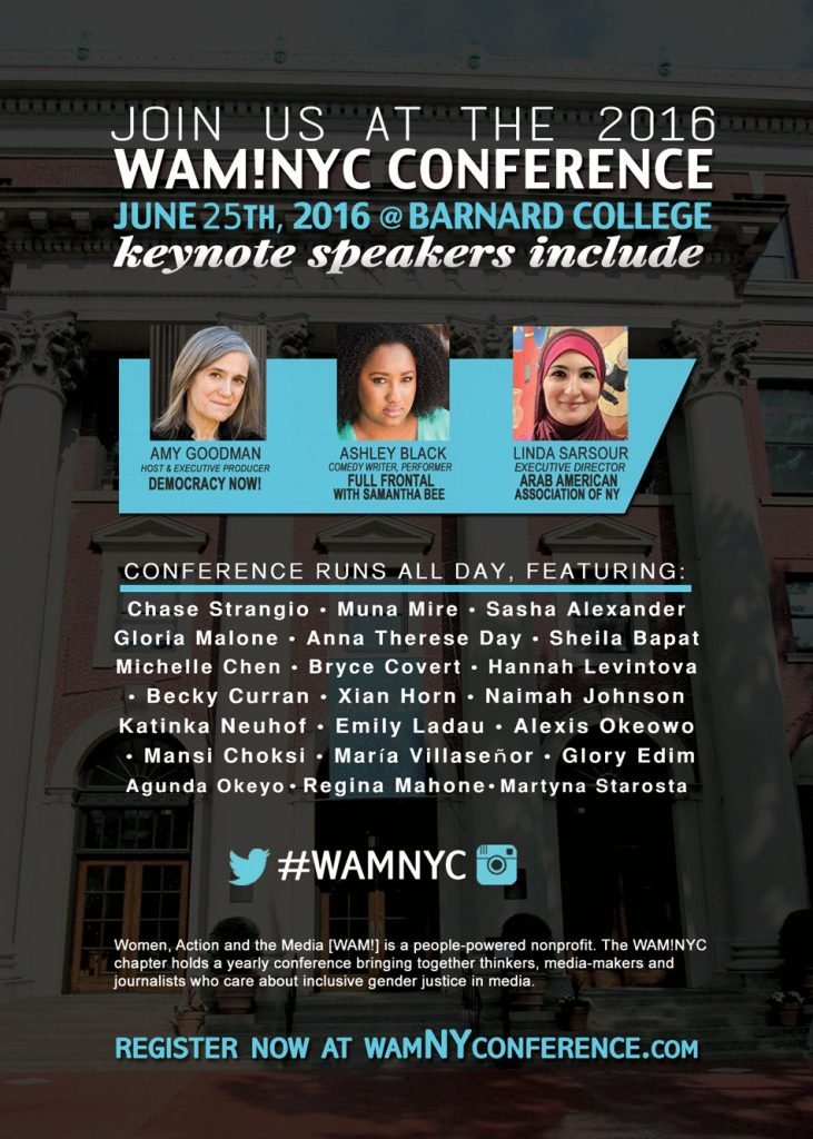 Flyer for 2016 WAM!NYC Conference